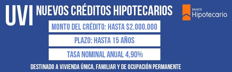 Pr stamos hipotecarios uvi banco hipotecario for Creditos hipotecarios bancor